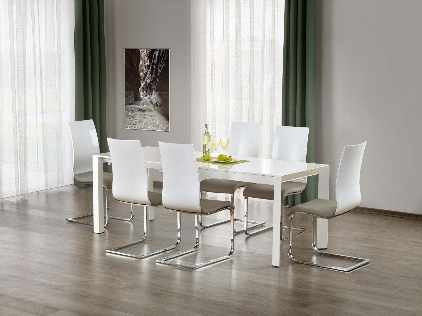 STANFORD XL stół rozkładany biały (2p=1szt)