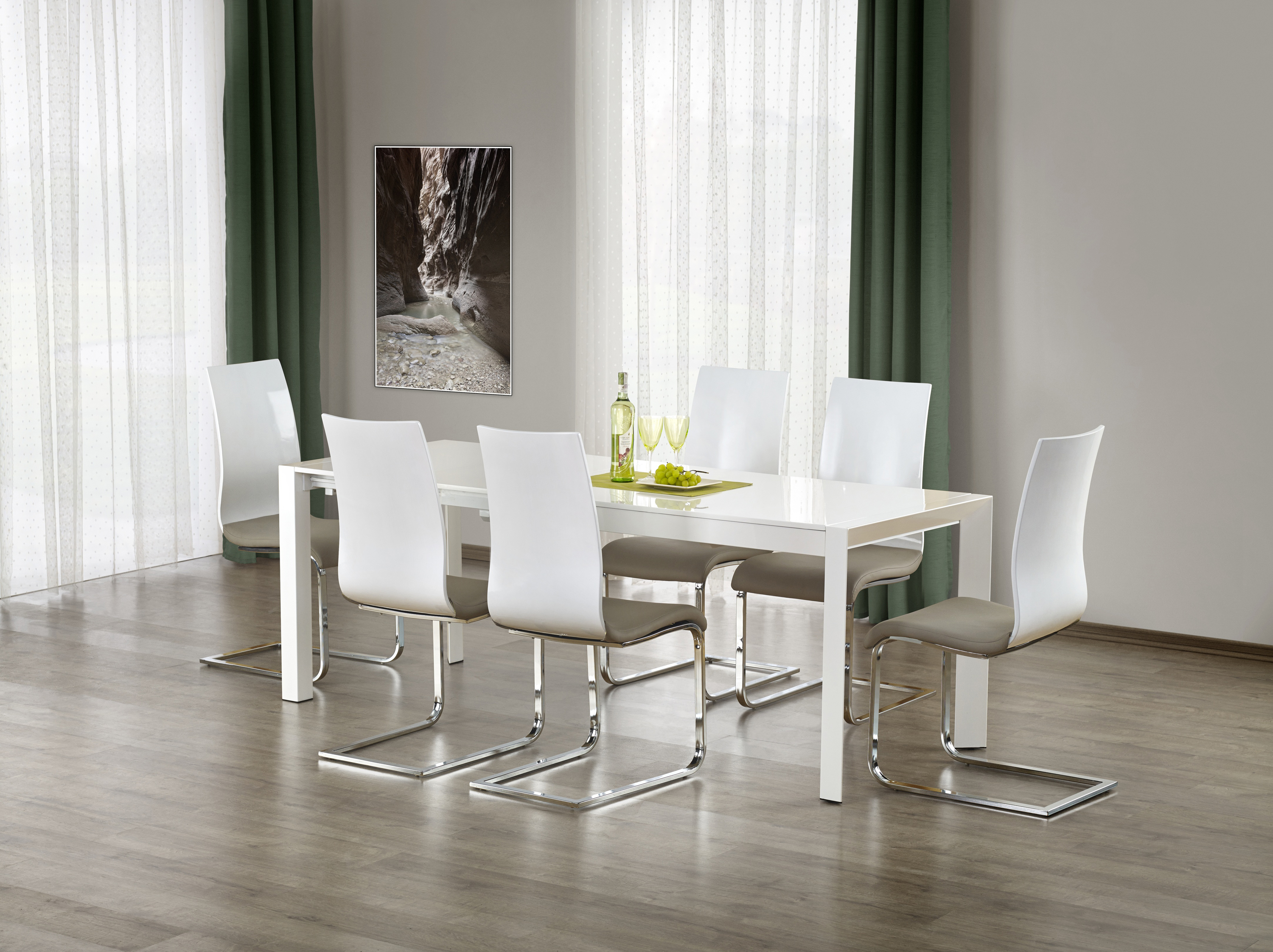 STANFORD stół rozkładany biały (2p=1szt)