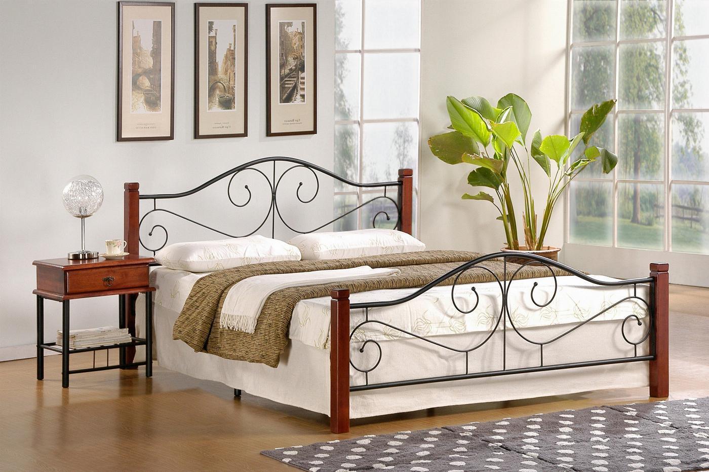 VIOLETTA 120 cm łóżko czereśnia ant./czarny (3p=1szt) ze stelażem