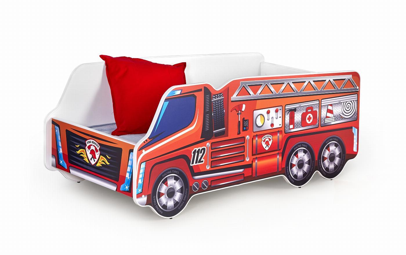 FIRE TRUCK łóżko wielobarwny (1p=1szt)