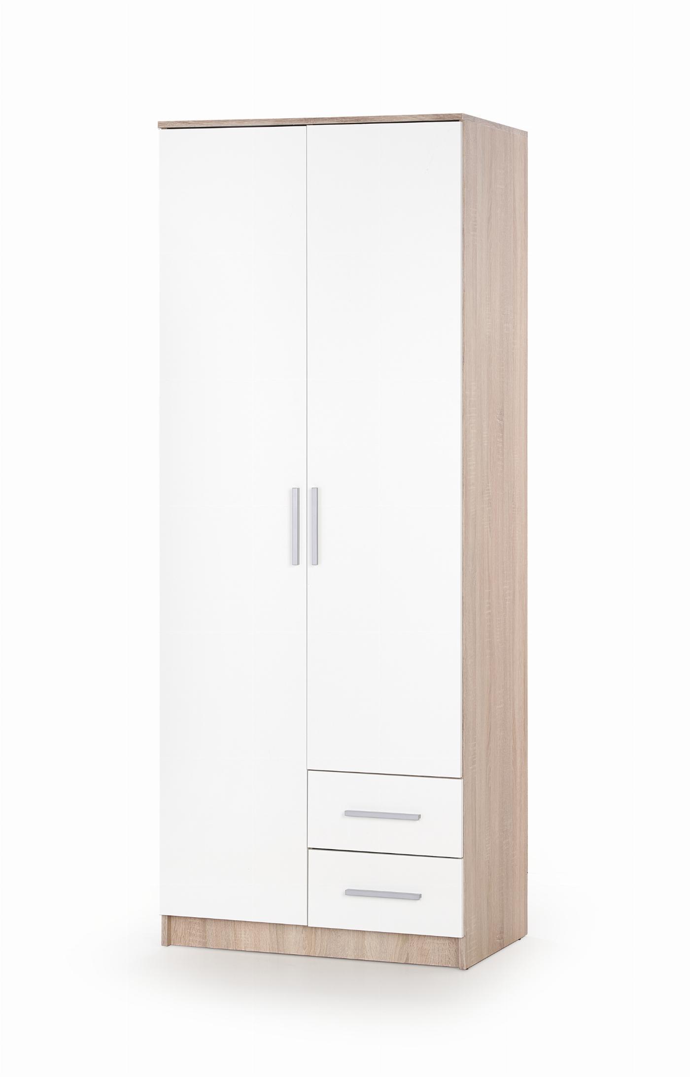 LIMA S-2 szafa dąb sonoma / biały (2p=1szt)