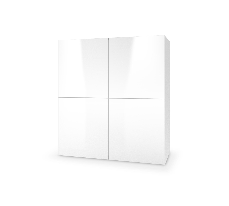 LIVO KM-100 komoda stojąca biały (1p=1szt)
