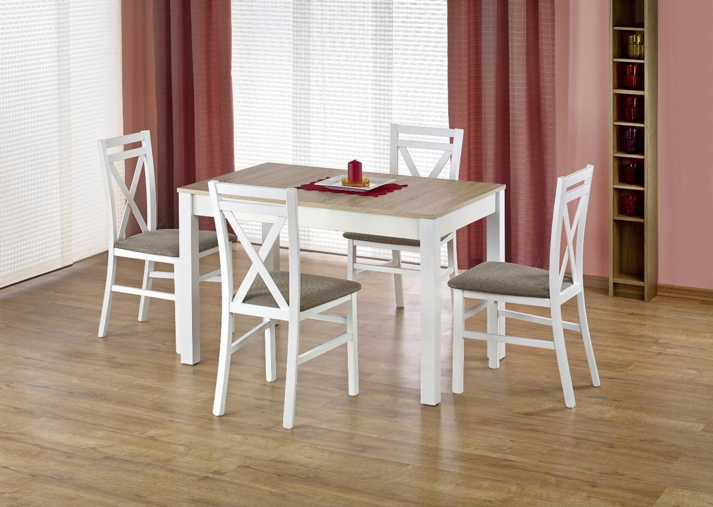 MAURYCY stół kolor dąb sonoma / biały (2p=1szt)