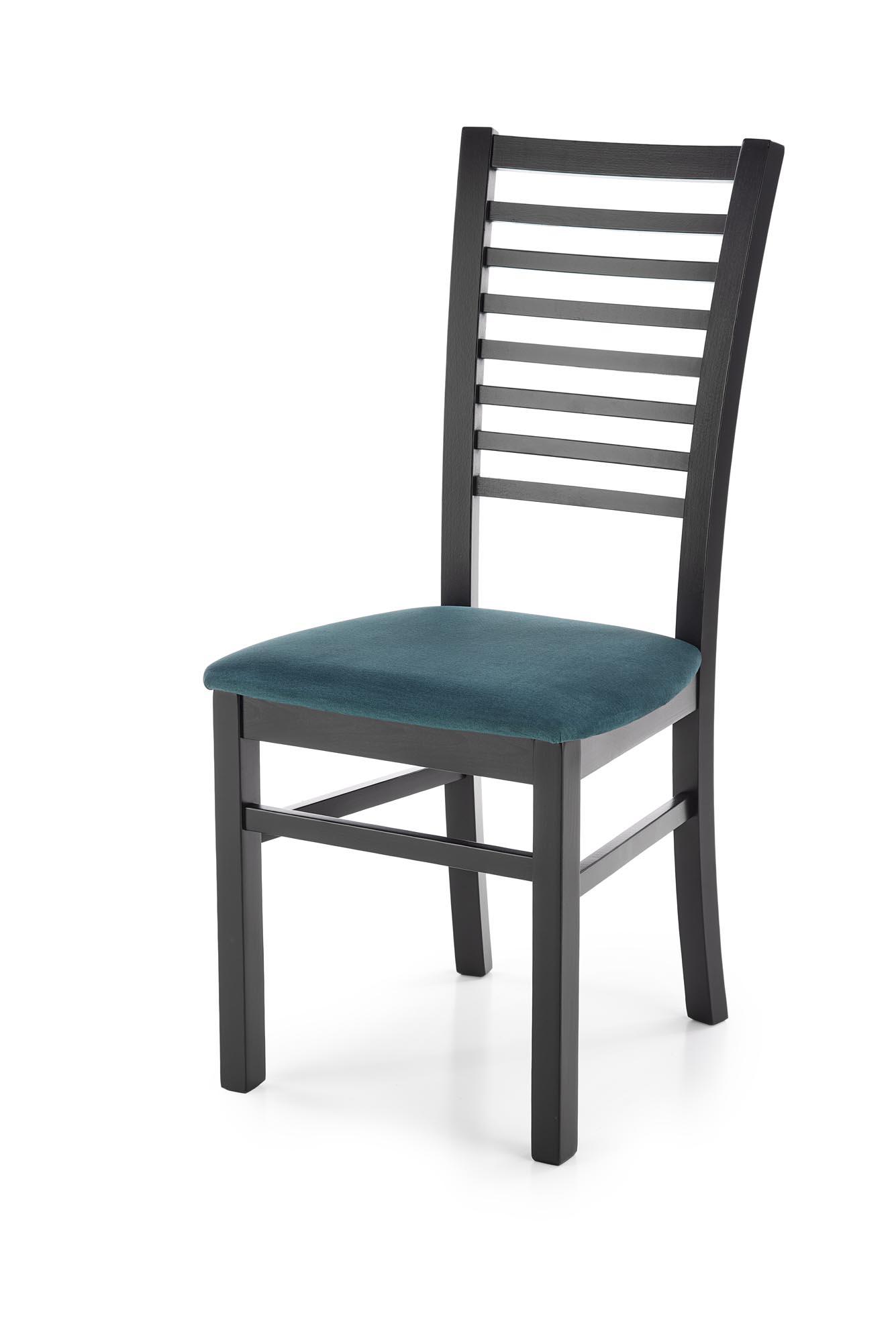 GERARD6 krzesło czarny / tap: velvet Monolith 37 (ciemny zielony) (1p=2szt)