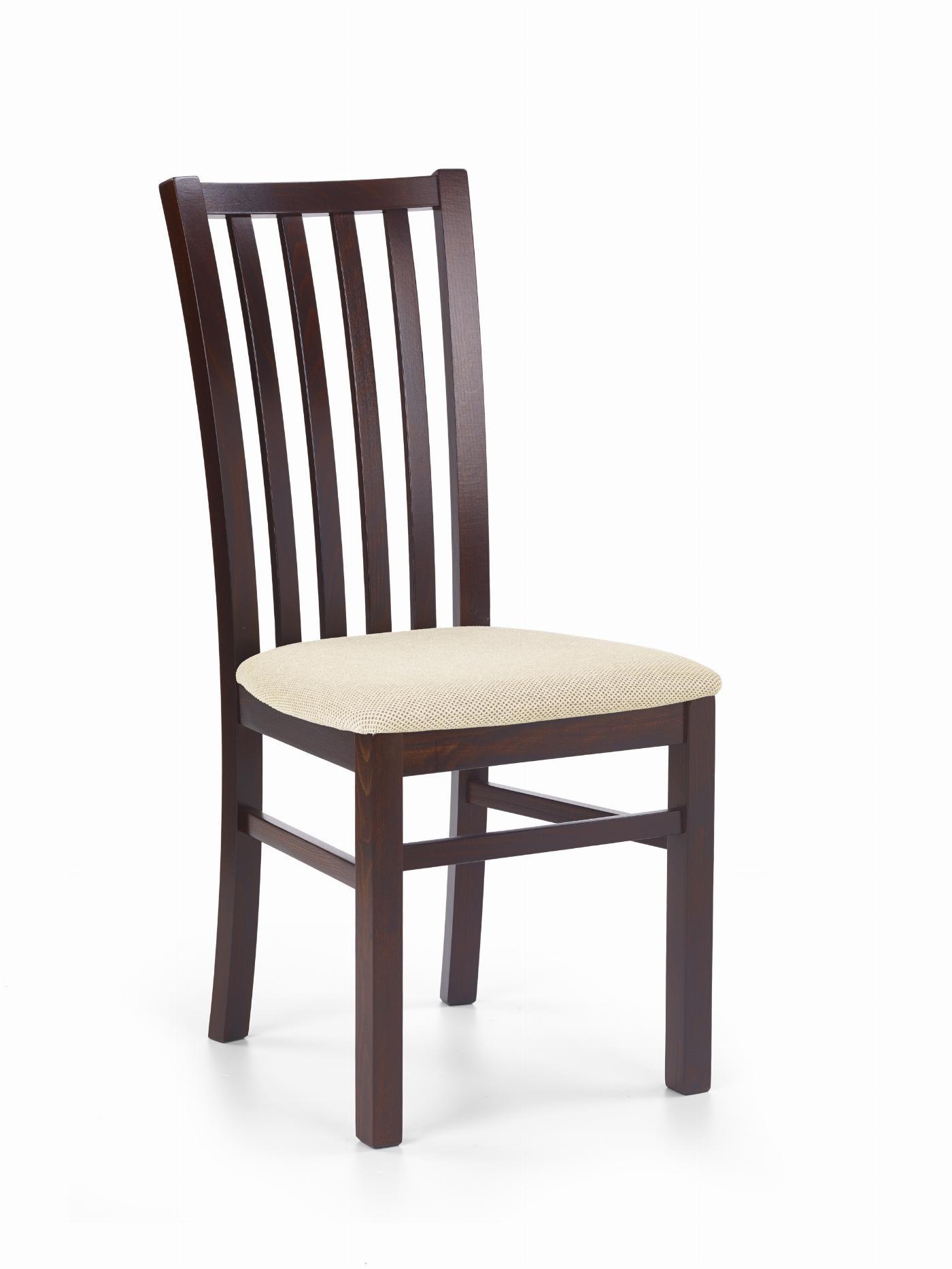 GERARD7 krzesło ciemny orzech / tap: Torent Beige (1p=2szt)