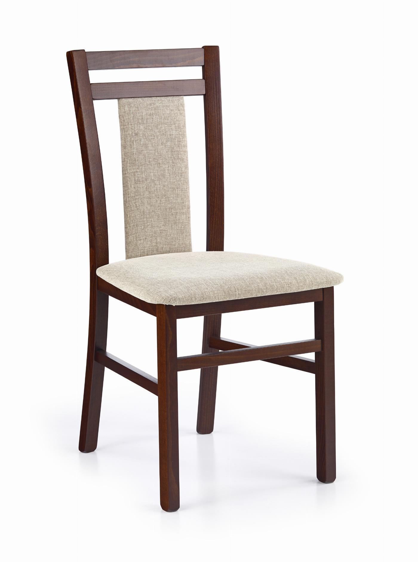 HUBERT8 krzesło ciemny orzech / tap: Vila 2 (1p=2szt)