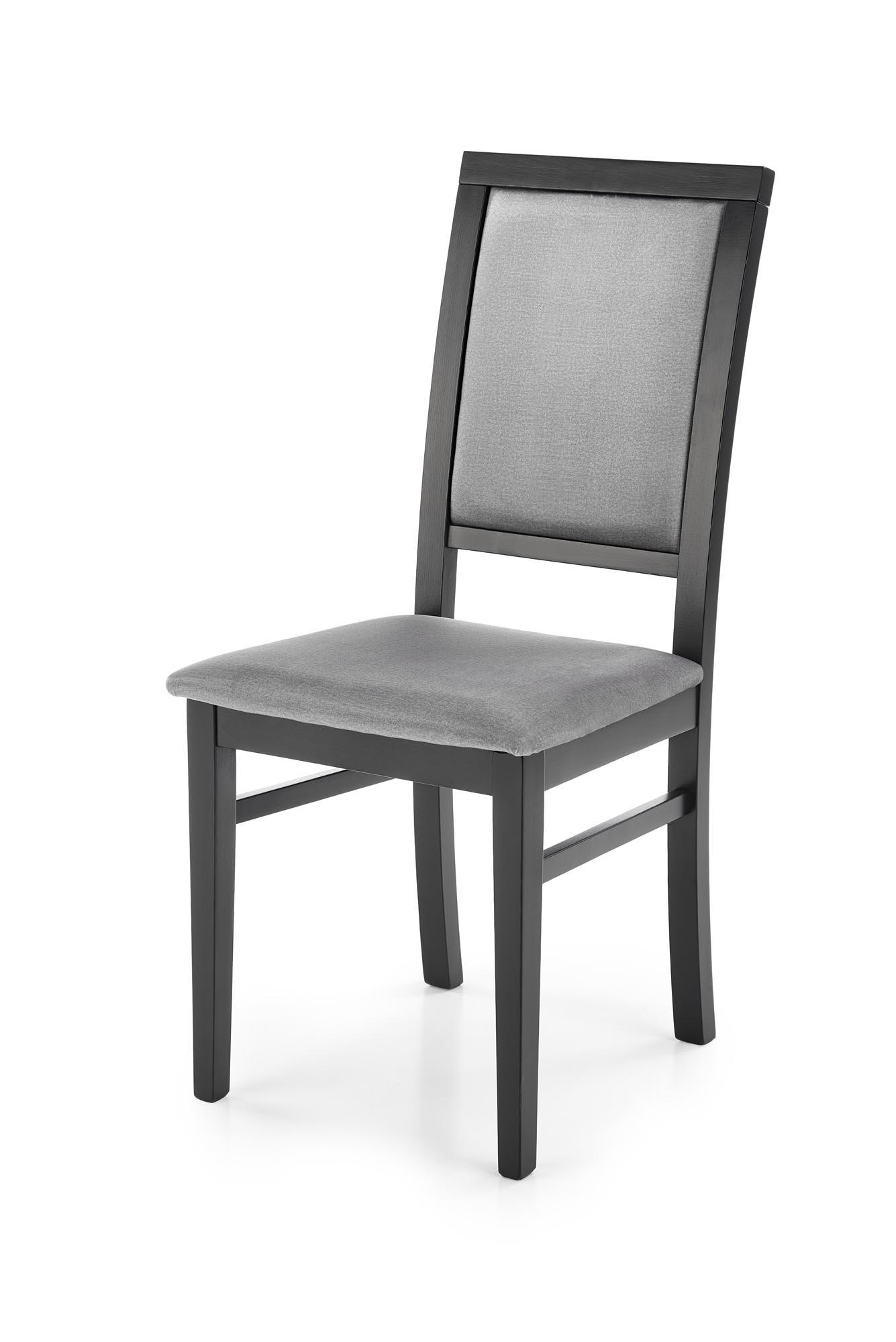 SYLWEK1 krzesło czarny / tap: velvet Monolith 85 (popiel) (1p=2szt)