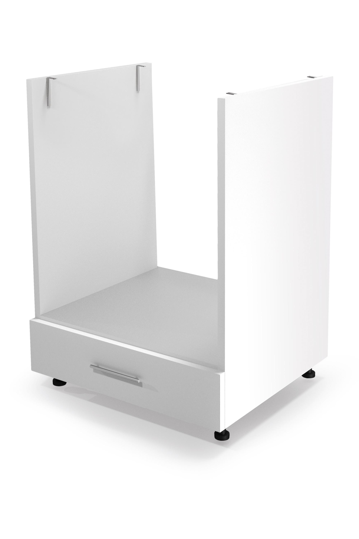 VENTO DP-60/82 szafka dolna pod zabudowę piekarnika front: biały (1p=1szt) szuflada