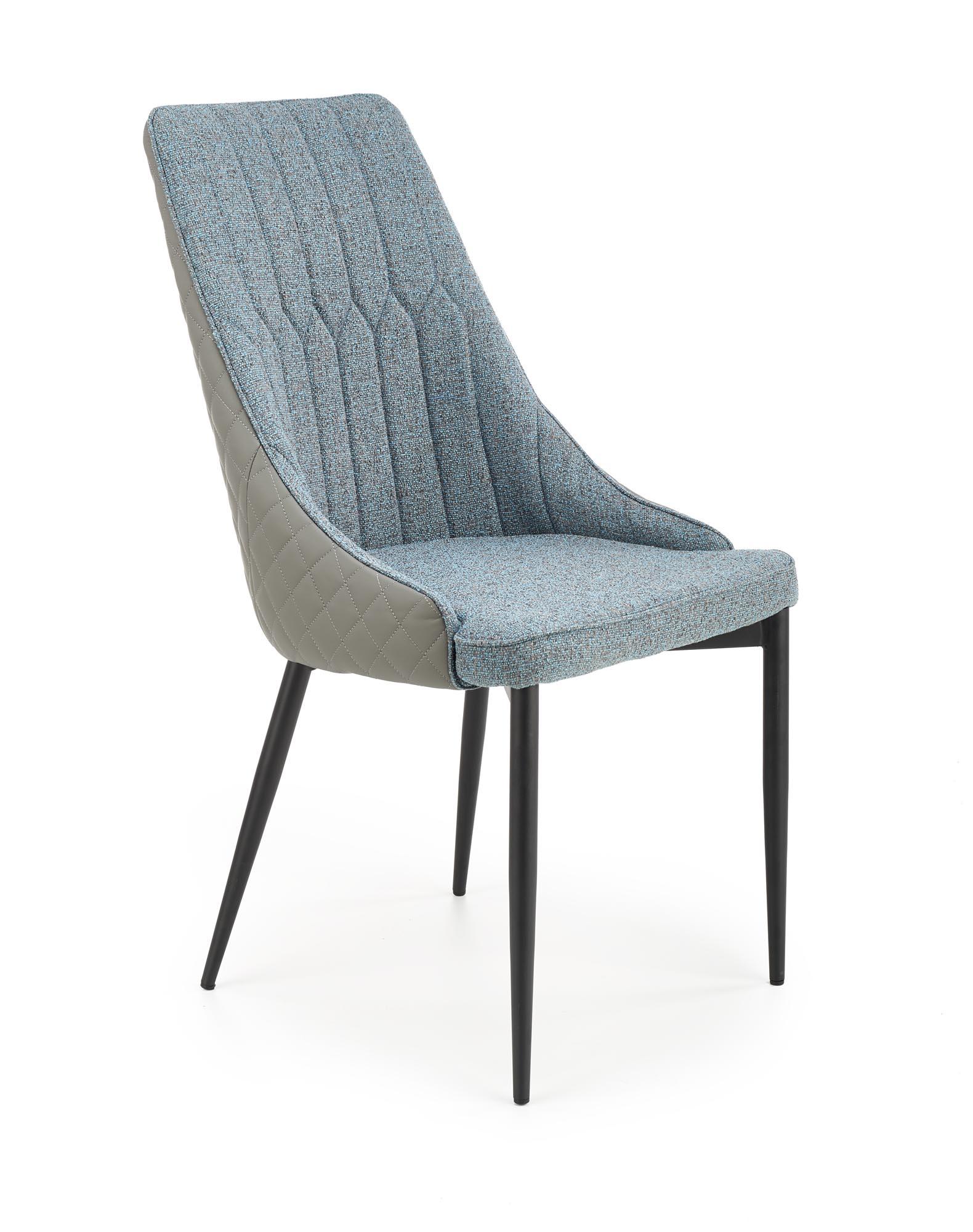 K448 krzesło, kolor: jasny popielaty - niebieski