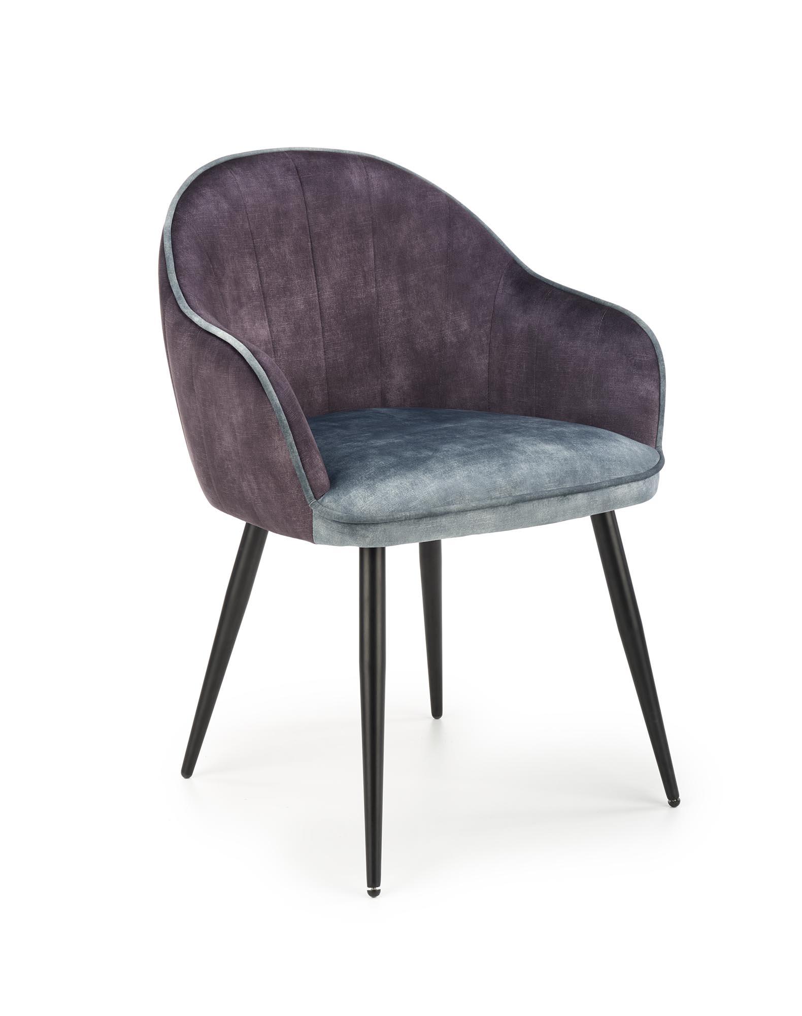 K440 krzesło ciemny popiel/niebieski