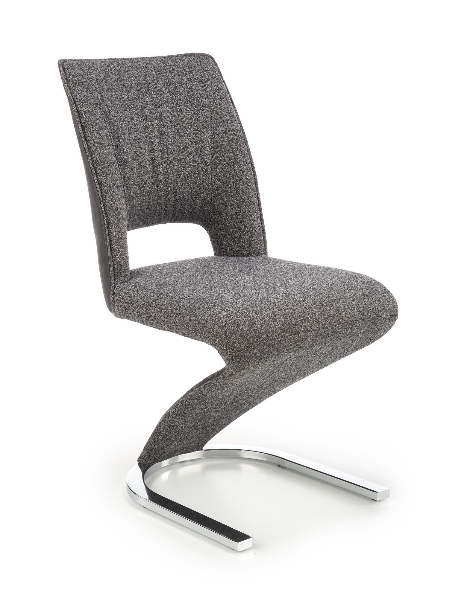 K441 krzesło popielaty/czarny