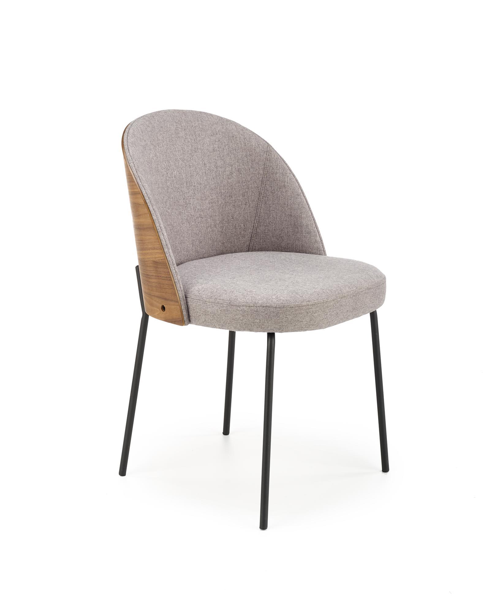K451 krzesło popielaty/jasny orzech