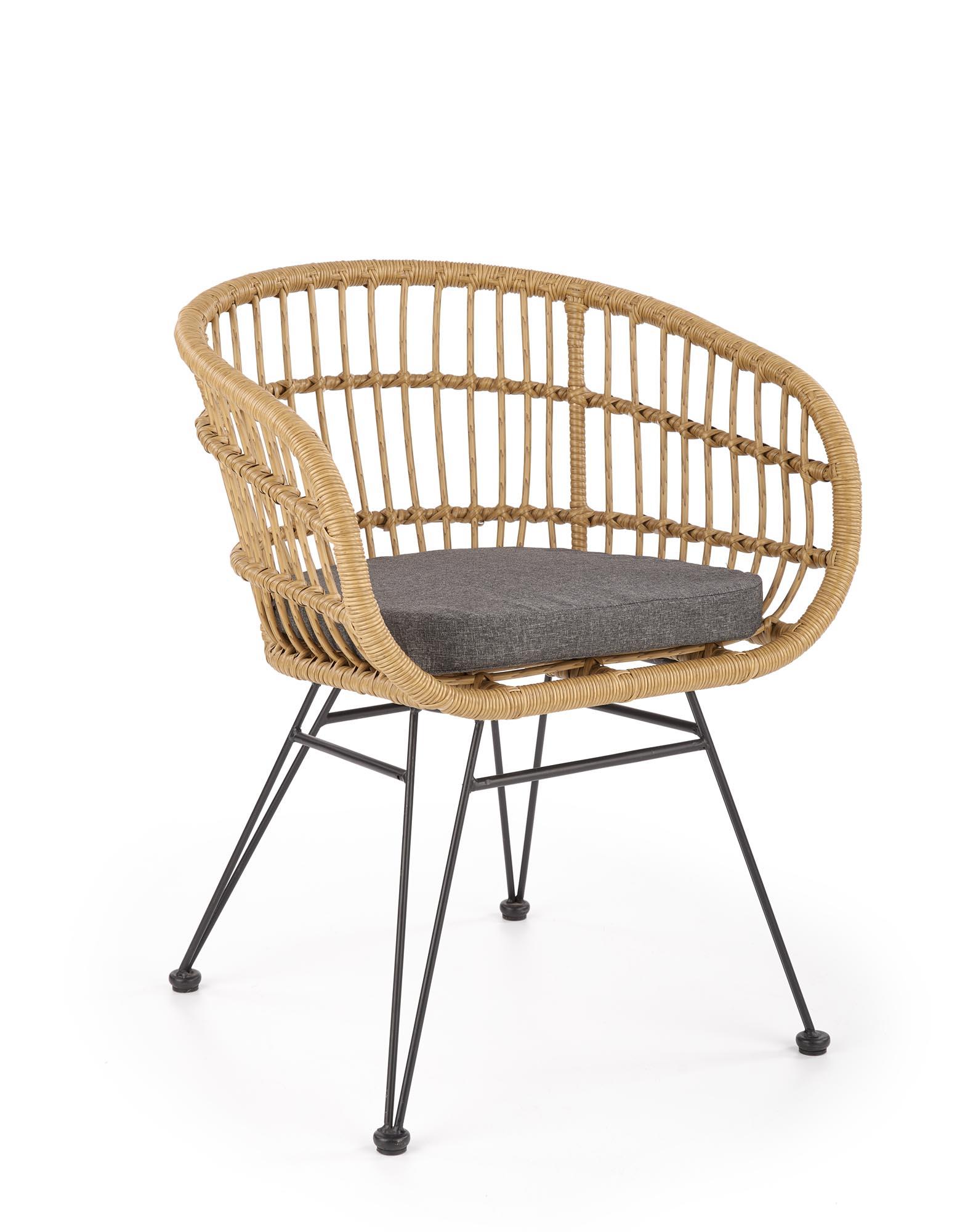 K456 krzesło naturalny/popielaty