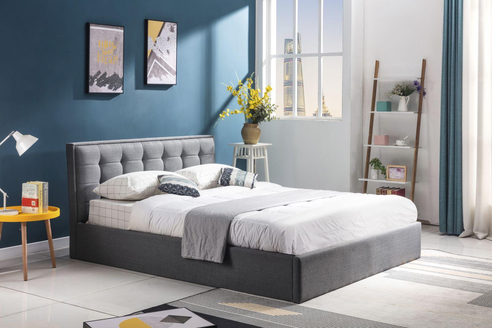 PADVA 120cm łóżko z pojemnikiem popielaty