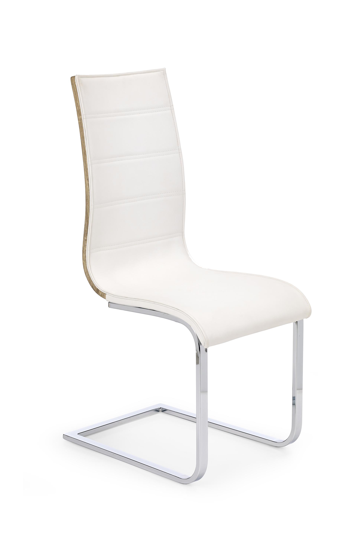 K104 krzesło biały/sonoma ekoskóra (2p=4szt)