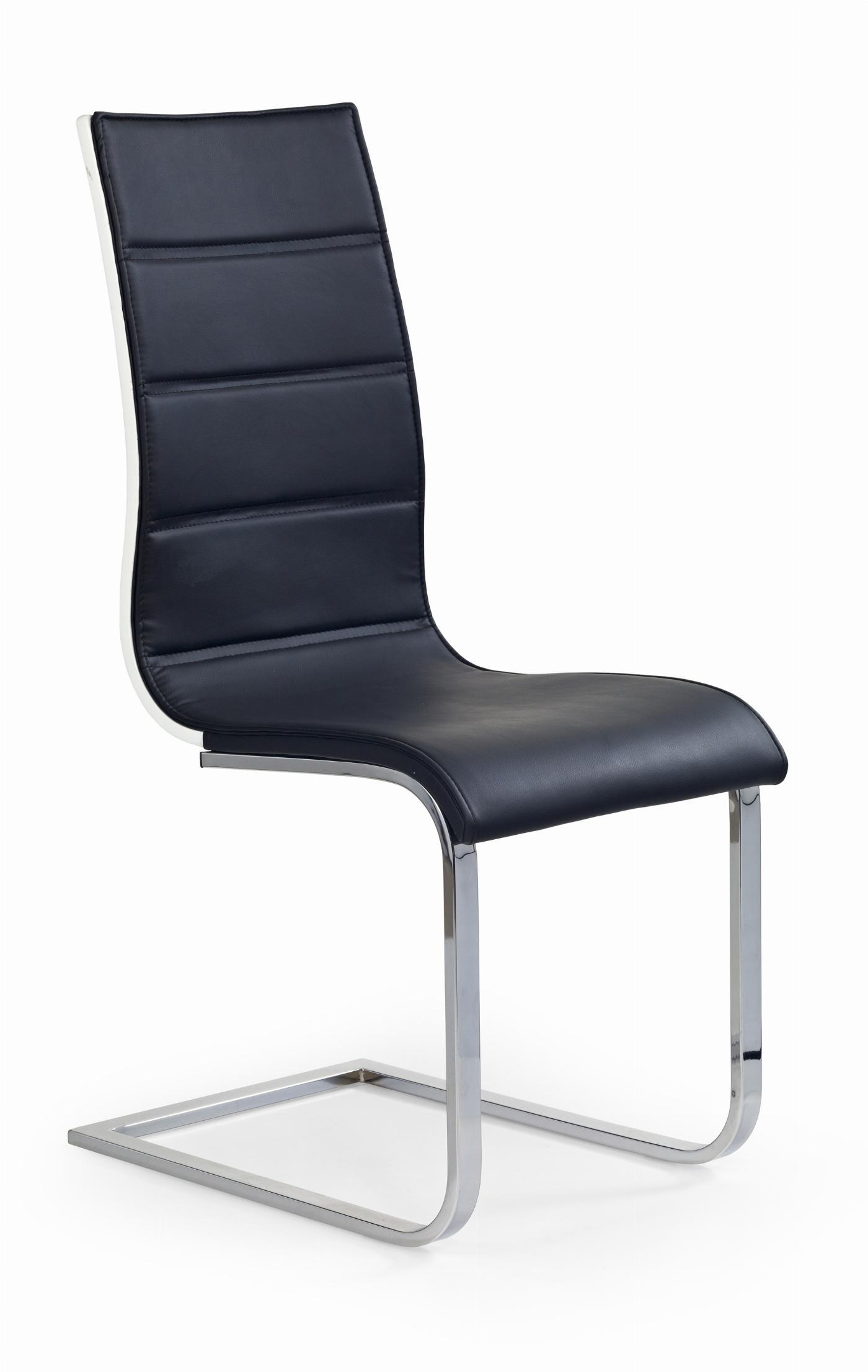 K104 krzesło czarny/biały ekoskóra (2p=4szt)