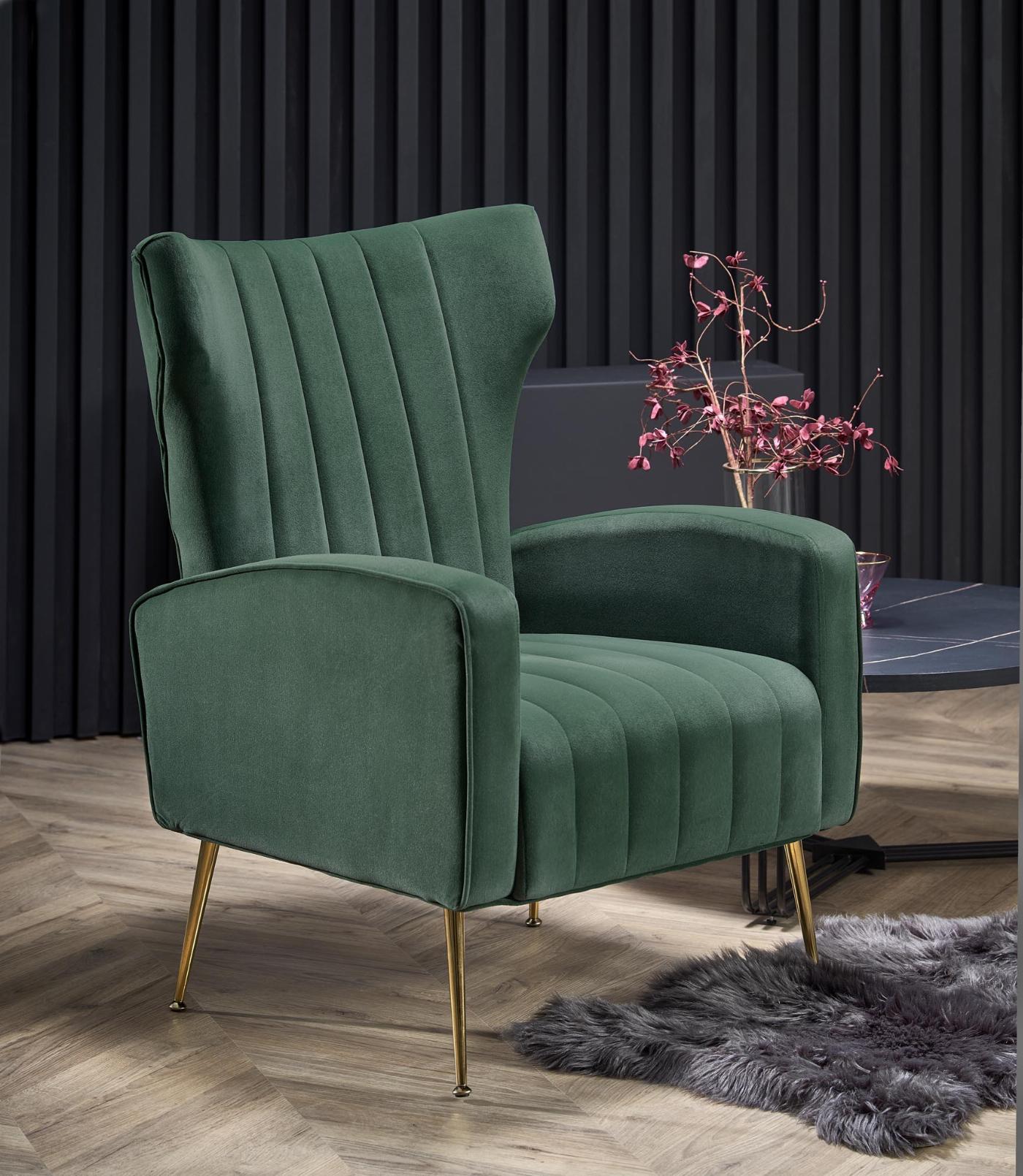 VARIO fotel wypoczynkowy ciemny zielony