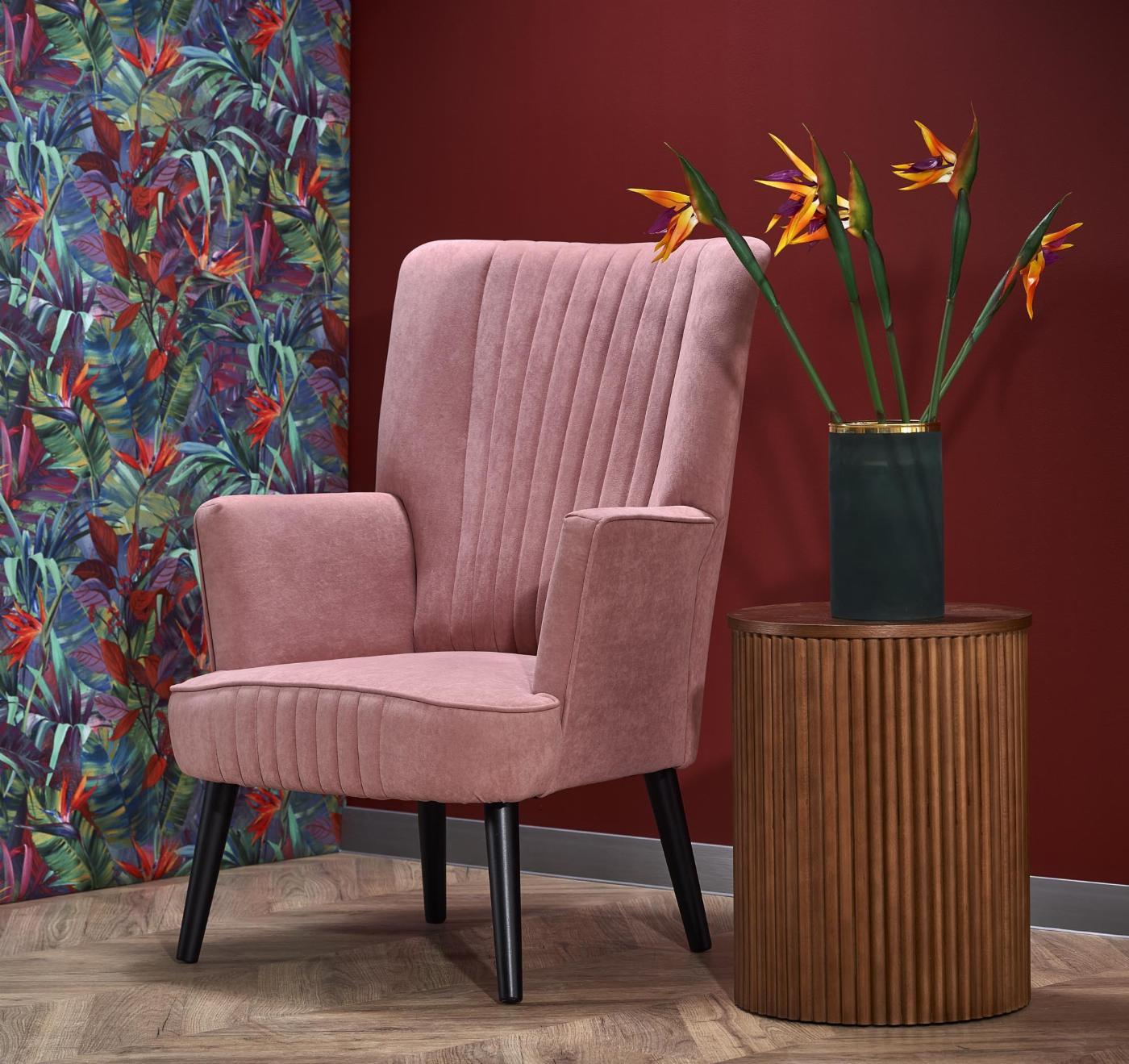 DELGADO fotel wypoczynkowy różowy (BLUEVEL #52)
