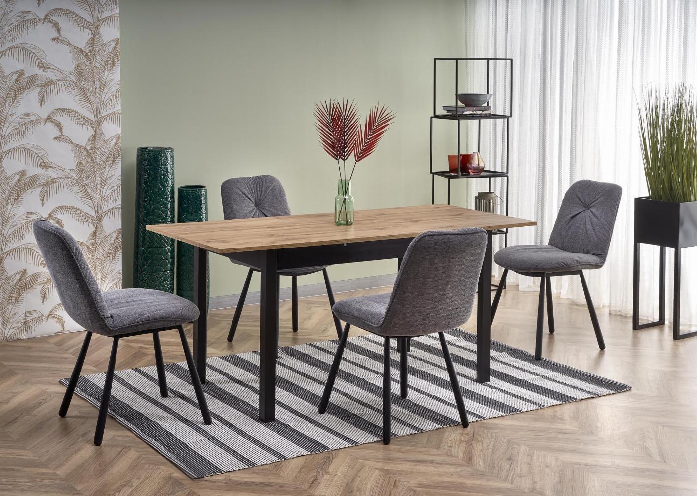 GREG stół rozkładany kolor dąb wotan/czarny (1p=1szt)