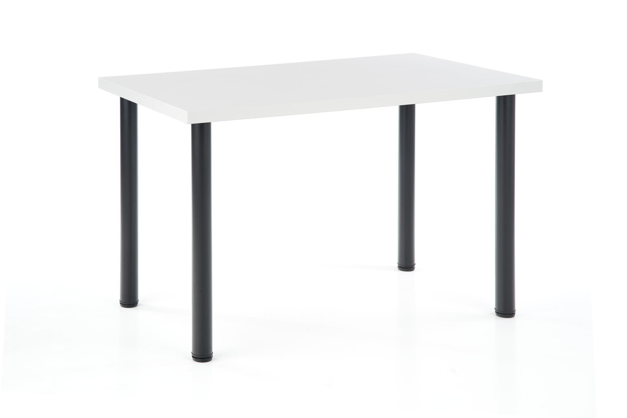 MODEX 2 120 stół kolor blat - biały, nogi - czarny (2p=1szt)