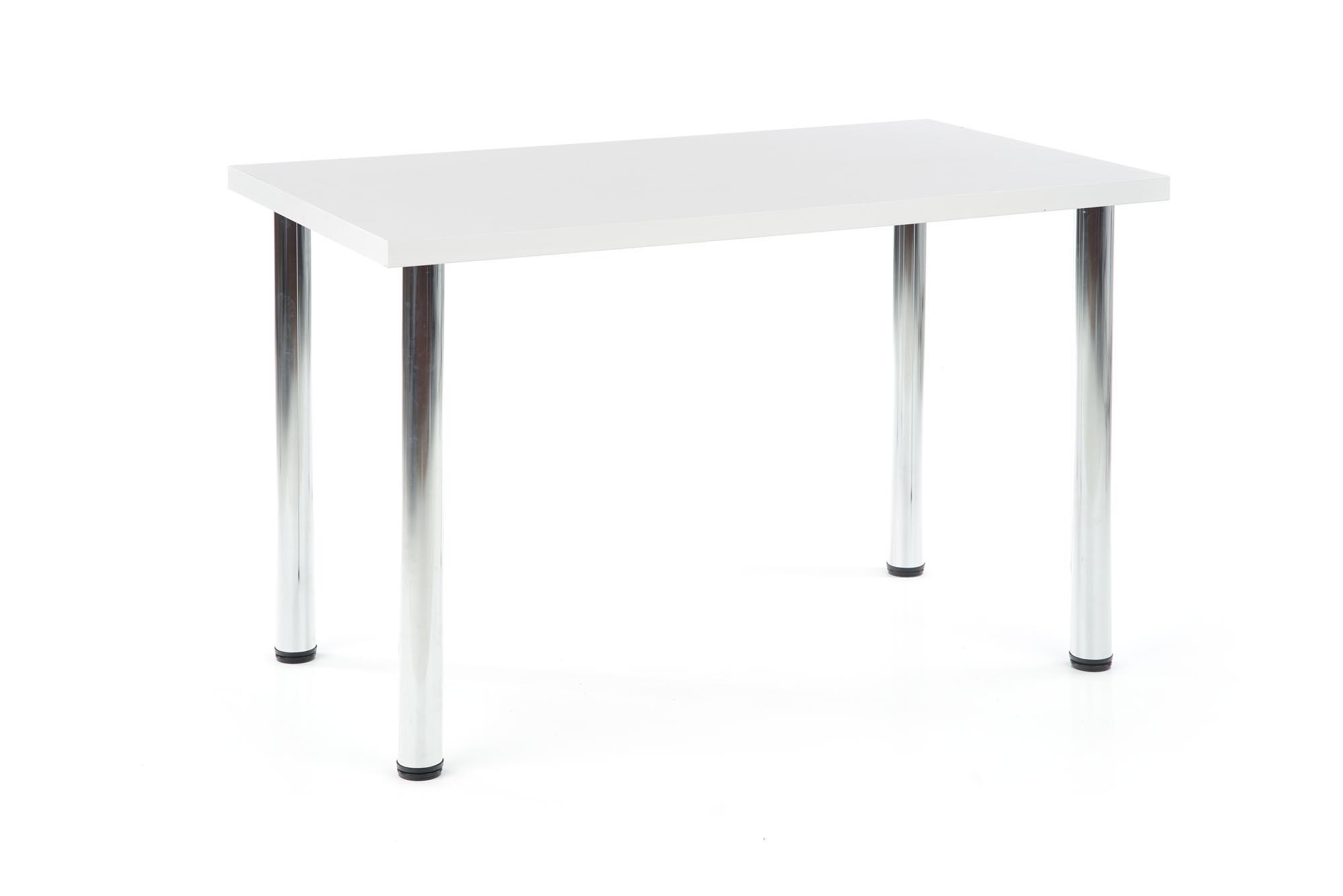 MODEX 120 stół kolor blat - biały, nogi - chrom (2p=1szt)