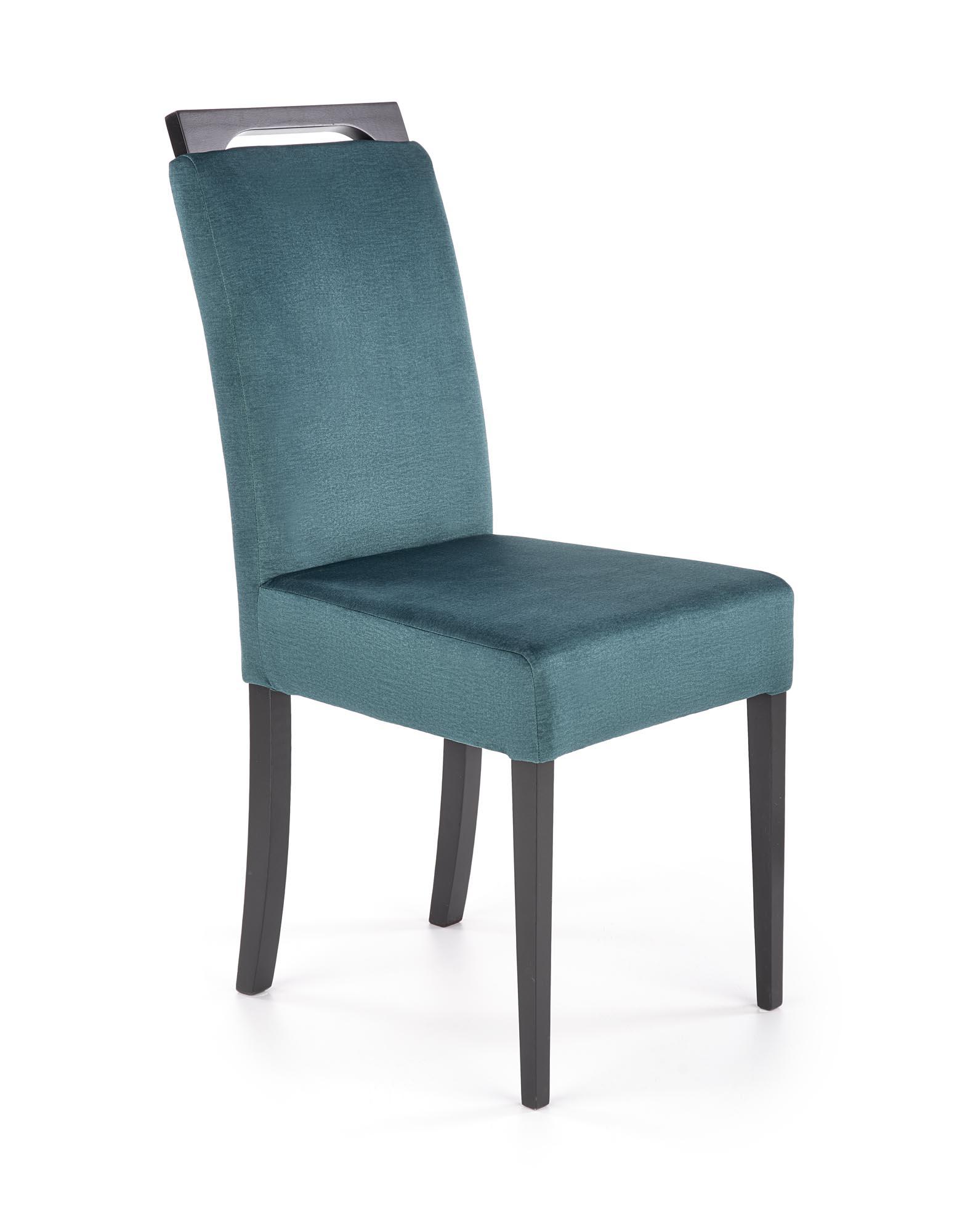 CLARION 2 krzesło czarny / tap: MONOLITH 37 (c. zielony) (1p=2szt)