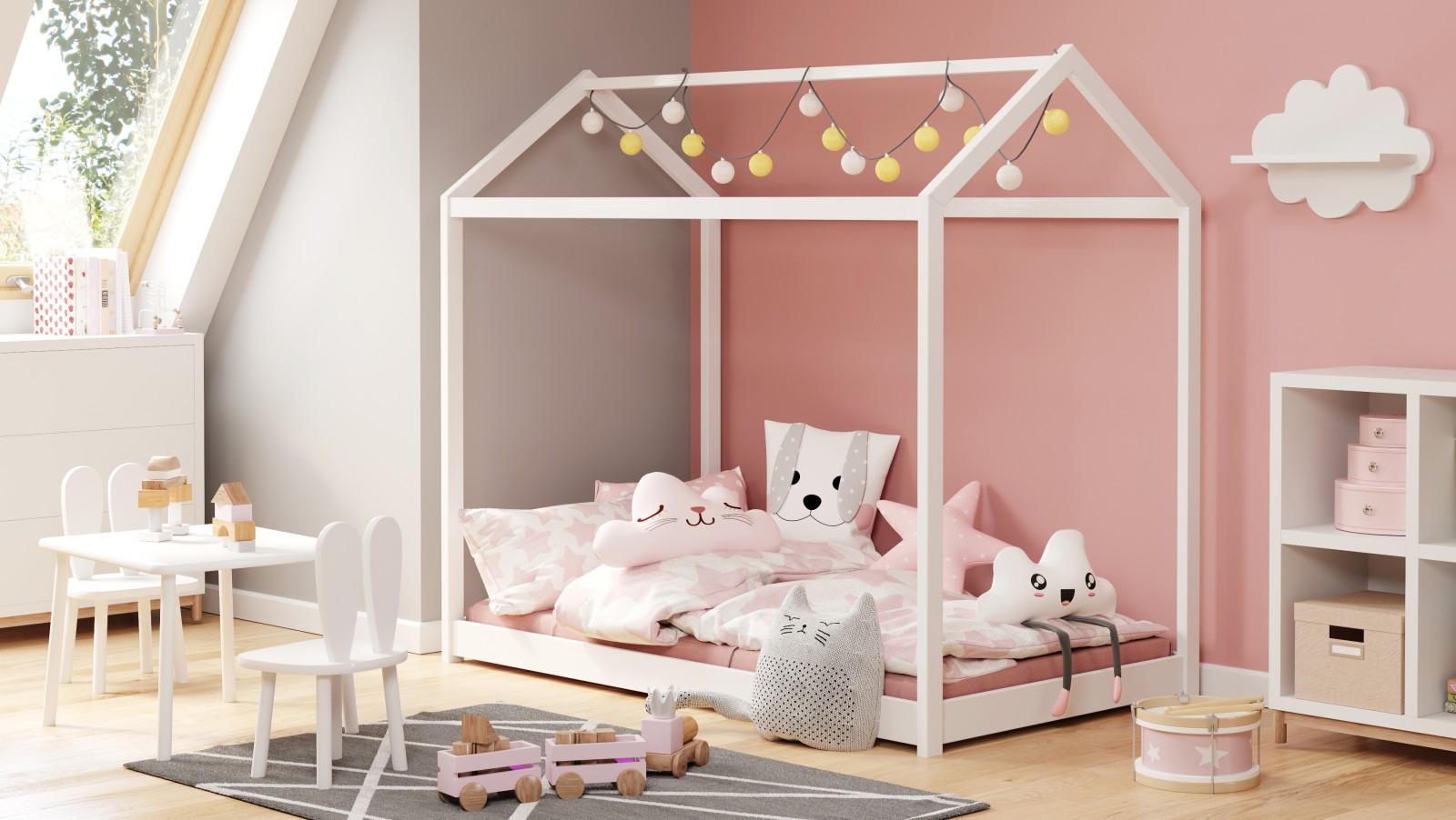 YOGI biały łóżko 80x160