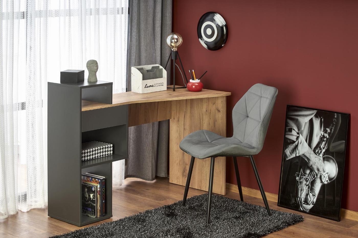 CONTI biurko antracyt / d.wotan (1p=1szt)