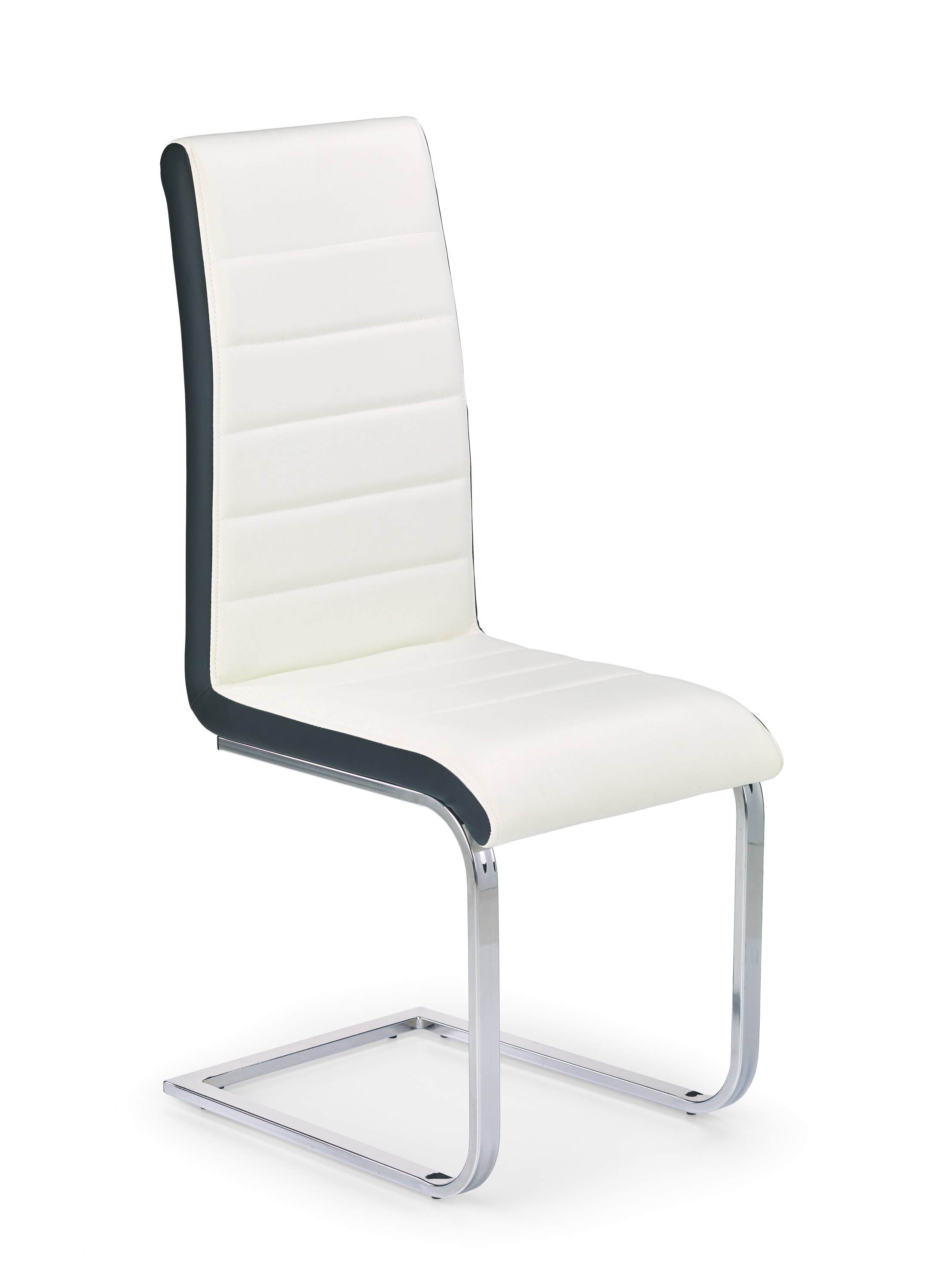 K132 krzesło biało-czarny (2p=4szt)