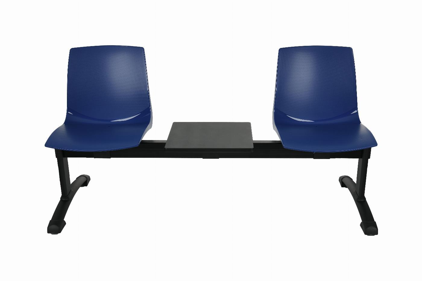 Ławka ARI3T 2 osobowa + stolik - niebieska