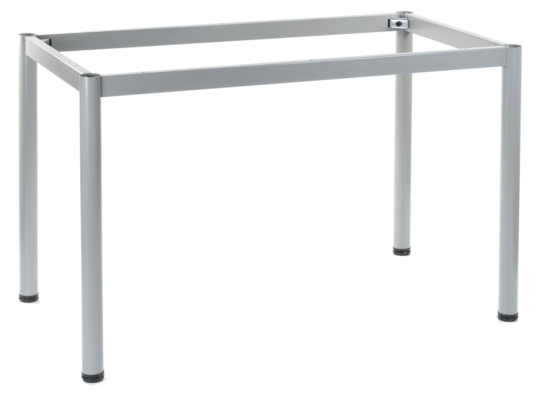 Stelaż do stołu i biurka EF-57/OA nogi okrągłe fi 5 cm - ALUMINIUM - 136x66