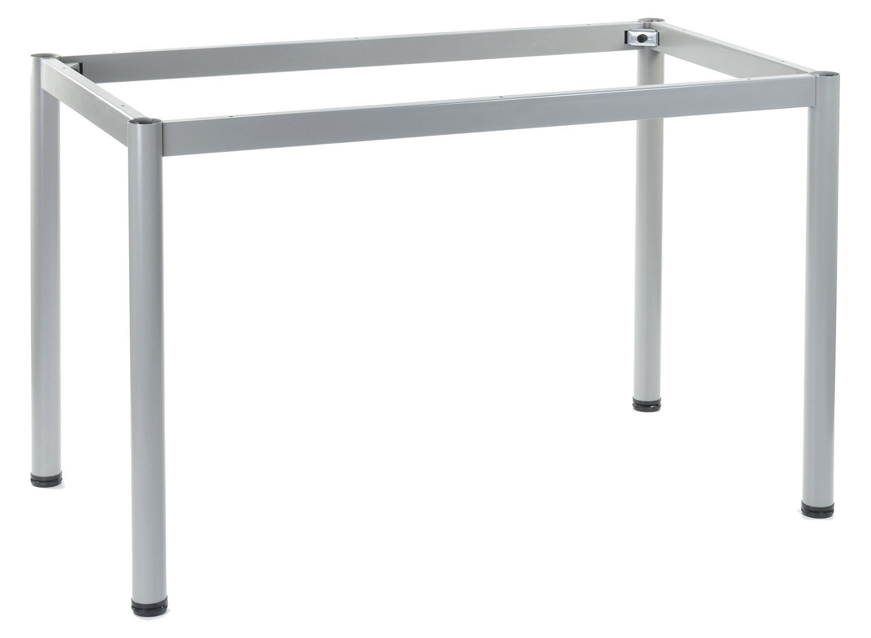 Stelaż do stołu i biurka EF-57/OA nogi okrągłe fi 5 cm - ALUMINIUM - 196x76