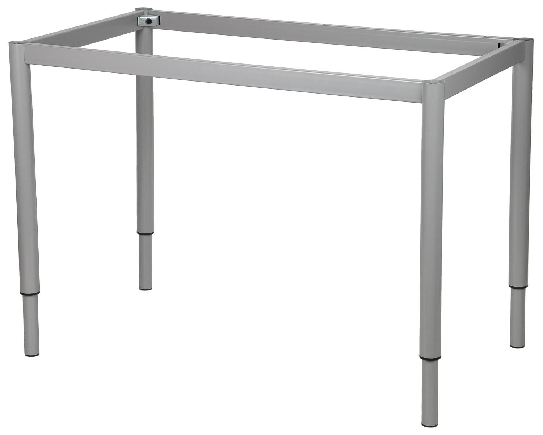 Stelaż regulowany do stołu i biurka EF-57OR/OA nogi okrągłe fi 5cm - alu - 156x66