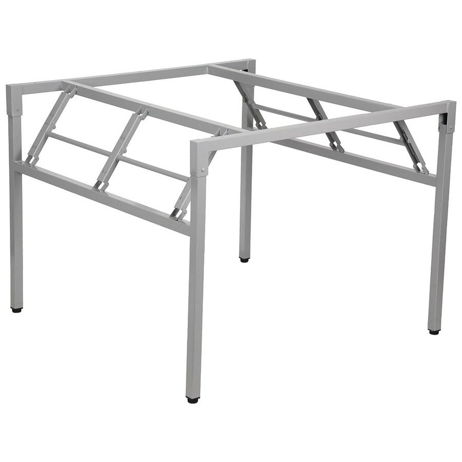 Stelaż składany do stołu i biurka EF-24/A-K - aluminium kwadrat 76x76x72,5h