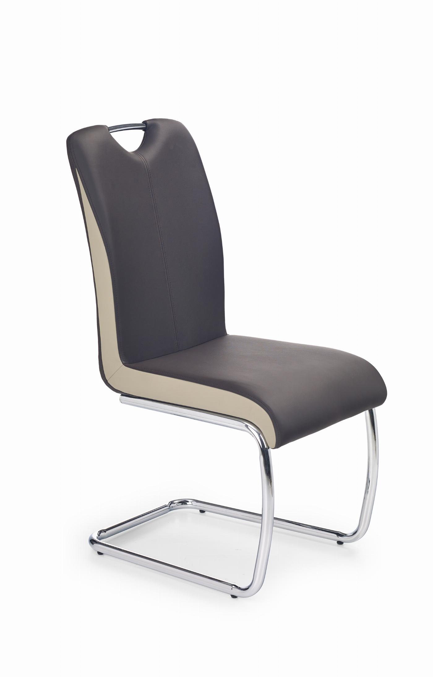 K184 krzesło ciemny brąz/champagne (2p=4szt)