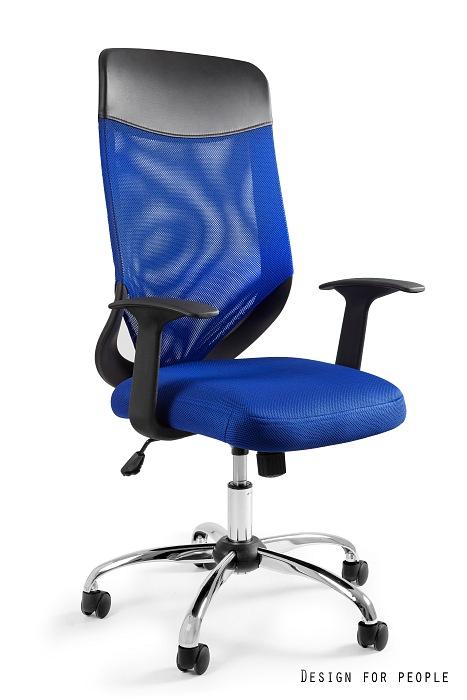 Fotel biurowy MOBI PLUS - NIEBIESKI