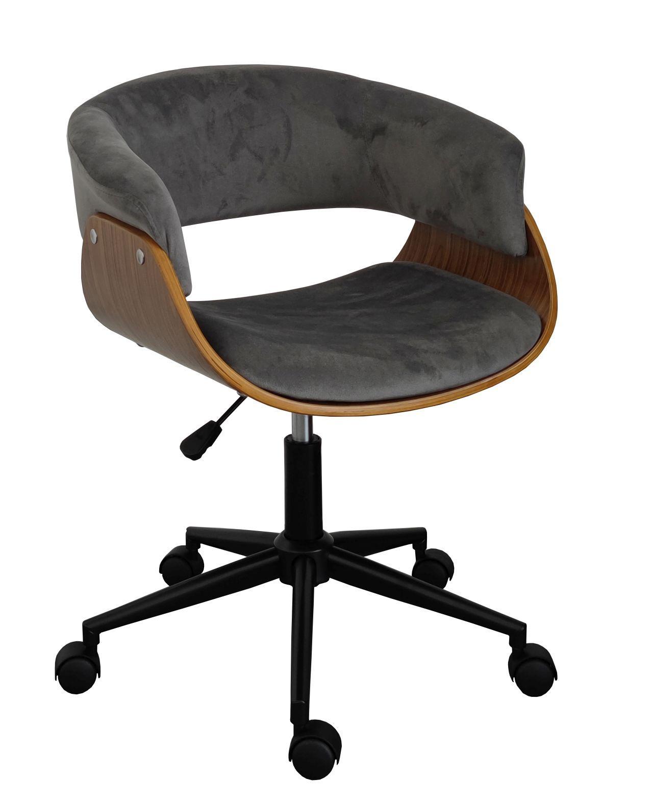 Fotel obrotowy FB6-FX - velvet szary