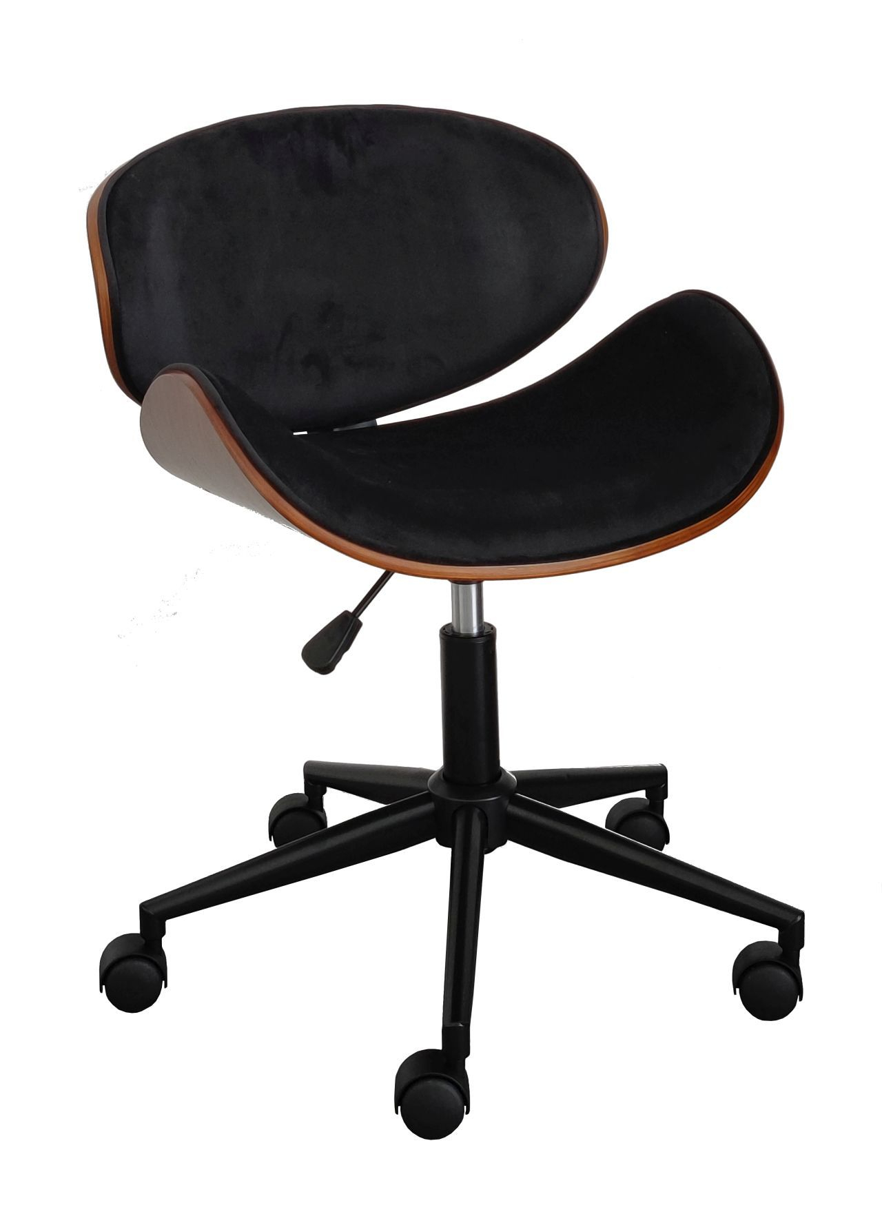 Fotel obrotowy FB5-FX - velvet czarne