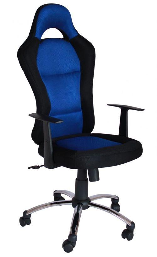 Krzesło Obrotowe QZY 1109C RACING Niebiesko-czarne
