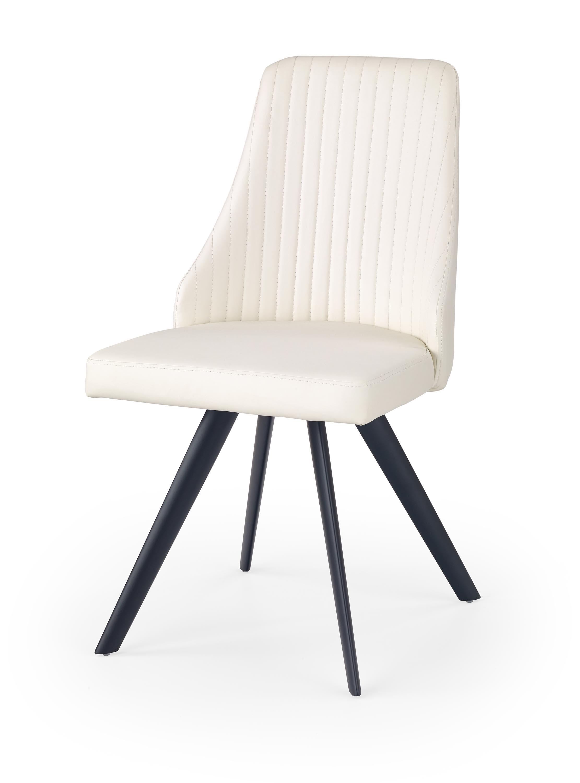 K206 krzesło biało / czarny (2p=4szt)