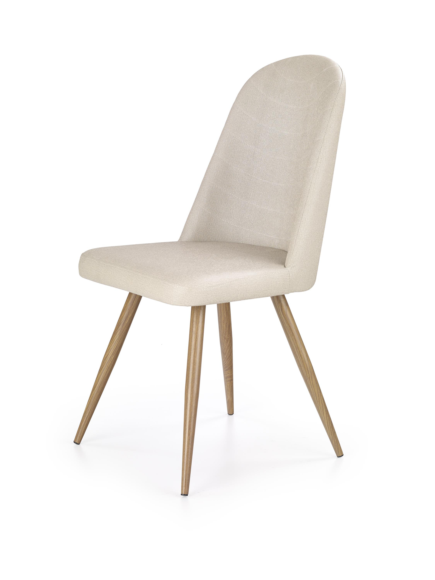 K214 krzesło ciemny kremowy / dąb miodowy (2p=4szt)
