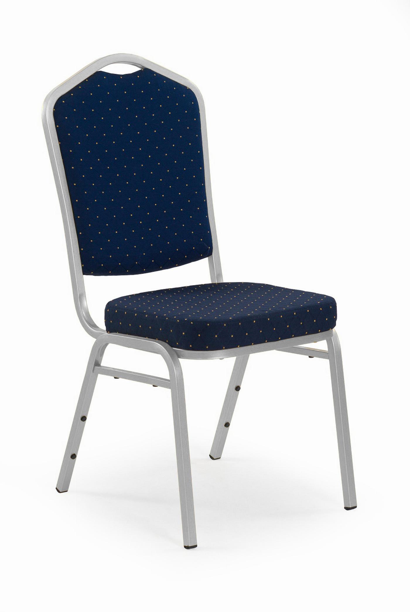 K66S krzesło niebieski, stelaż srebrny (1p=1szt)
