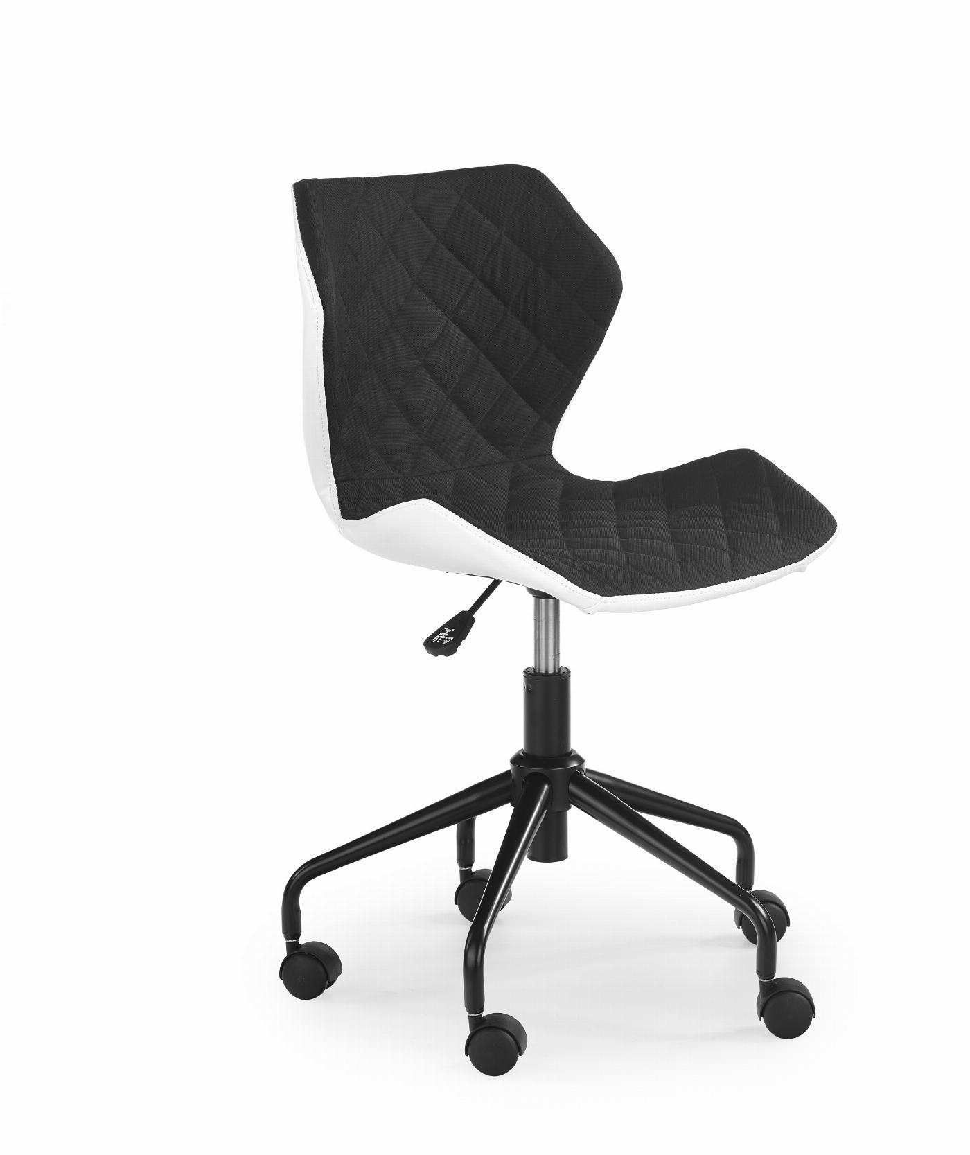 MATRIX fotel młodzieżowy biały/czarny (1p=1szt)