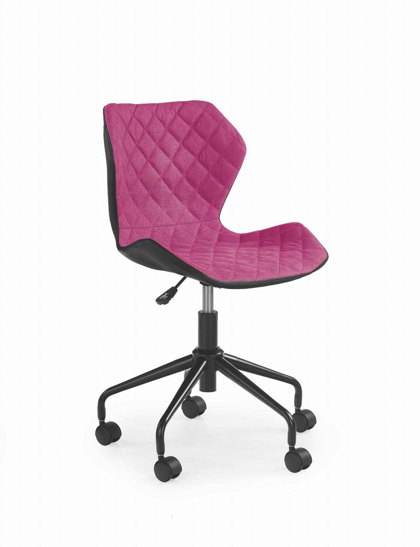 MATRIX fotel młodzieżowy czarny / różowy (1p=1szt)