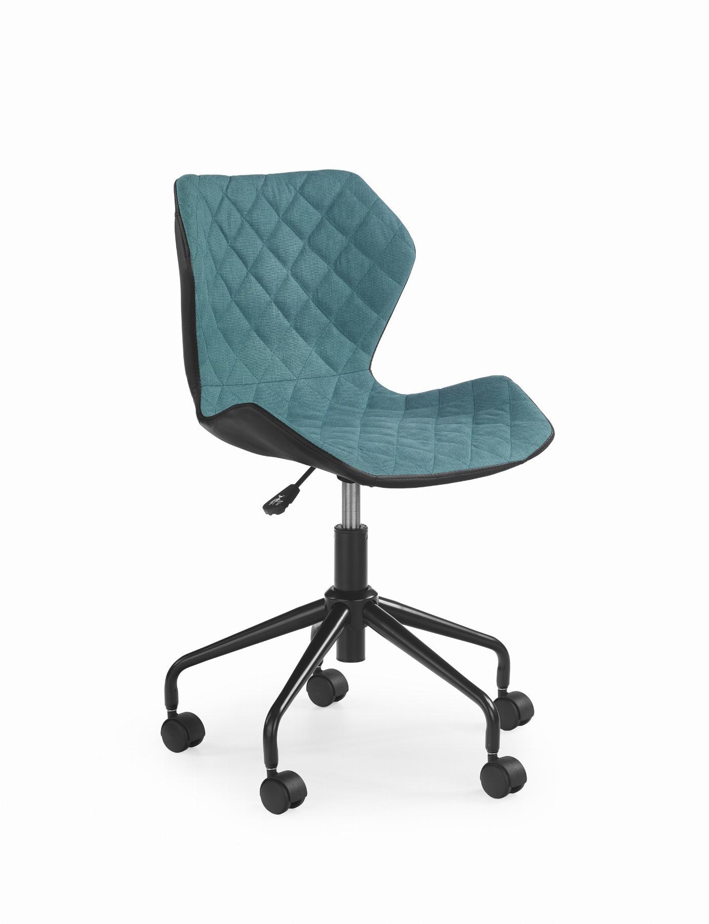 MATRIX fotel młodzieżowy czarny / turkusowy (1p=1szt)