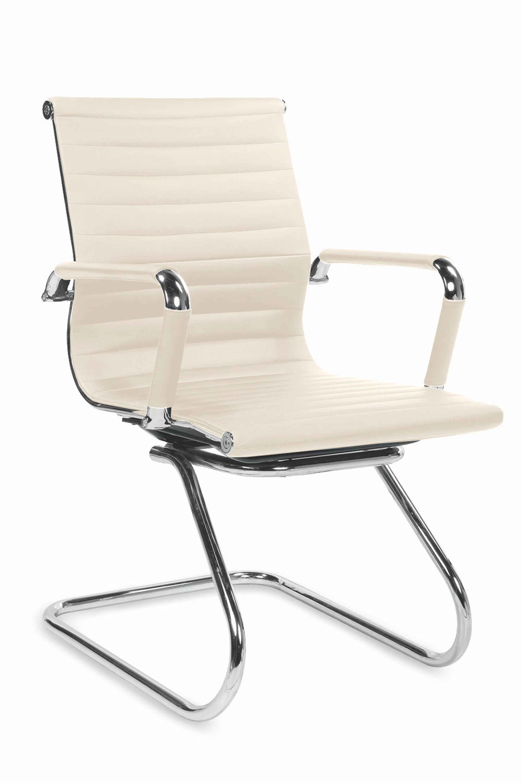 PRESTIGE SKID fotel gabinetowy kremowy