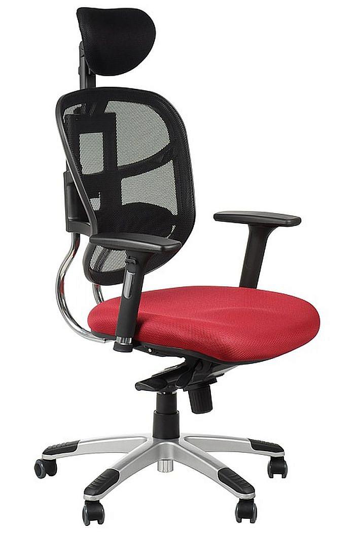 Fotel Biurowy Obrotowy EF-HN5018 bordowy