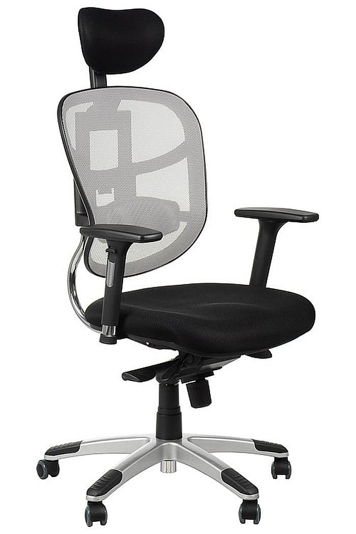 Fotel Biurowy Obrotowy EF-HN5018 szary