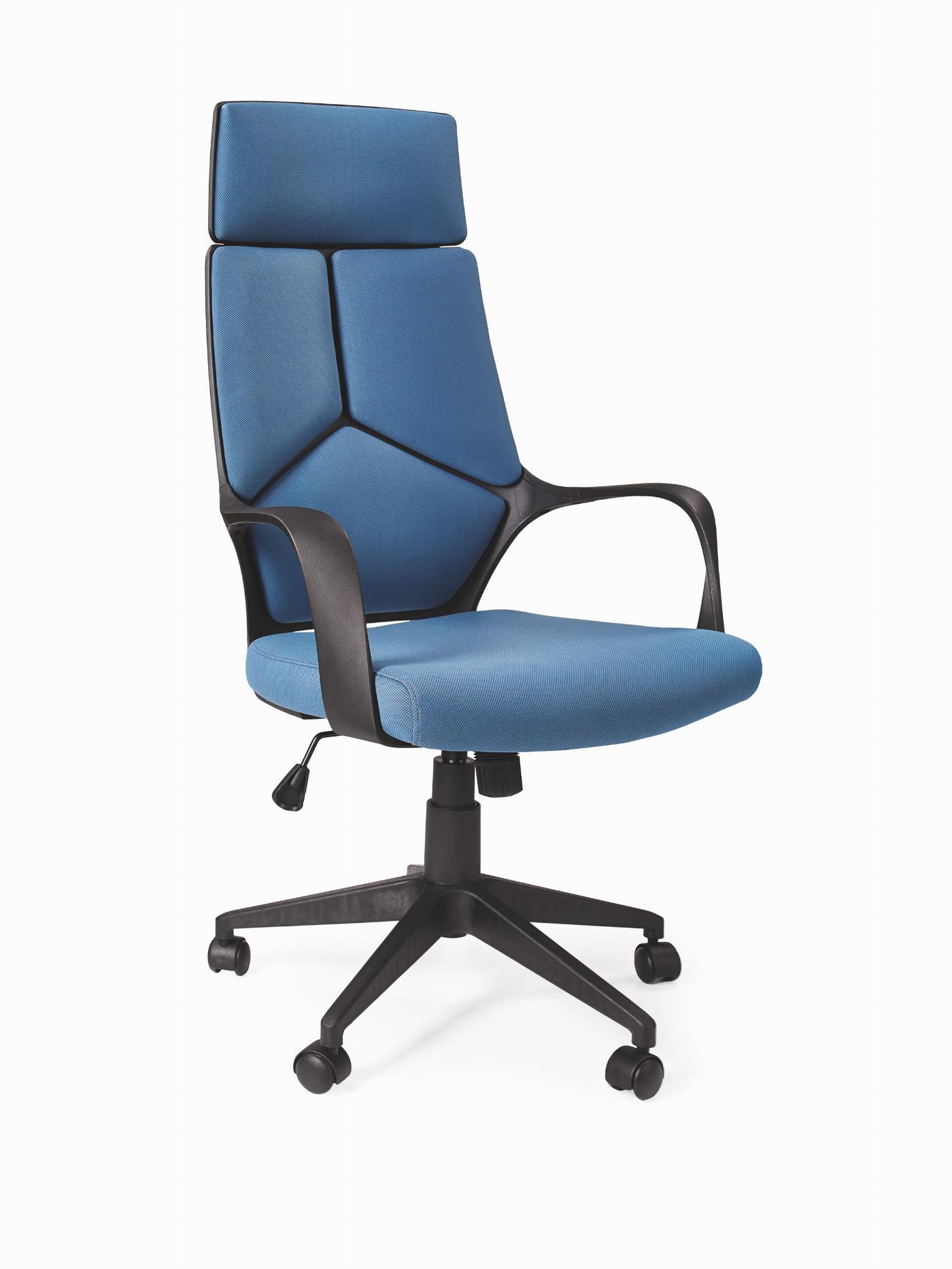 VOYAGER fotel gabinetowy czarny / niebieski