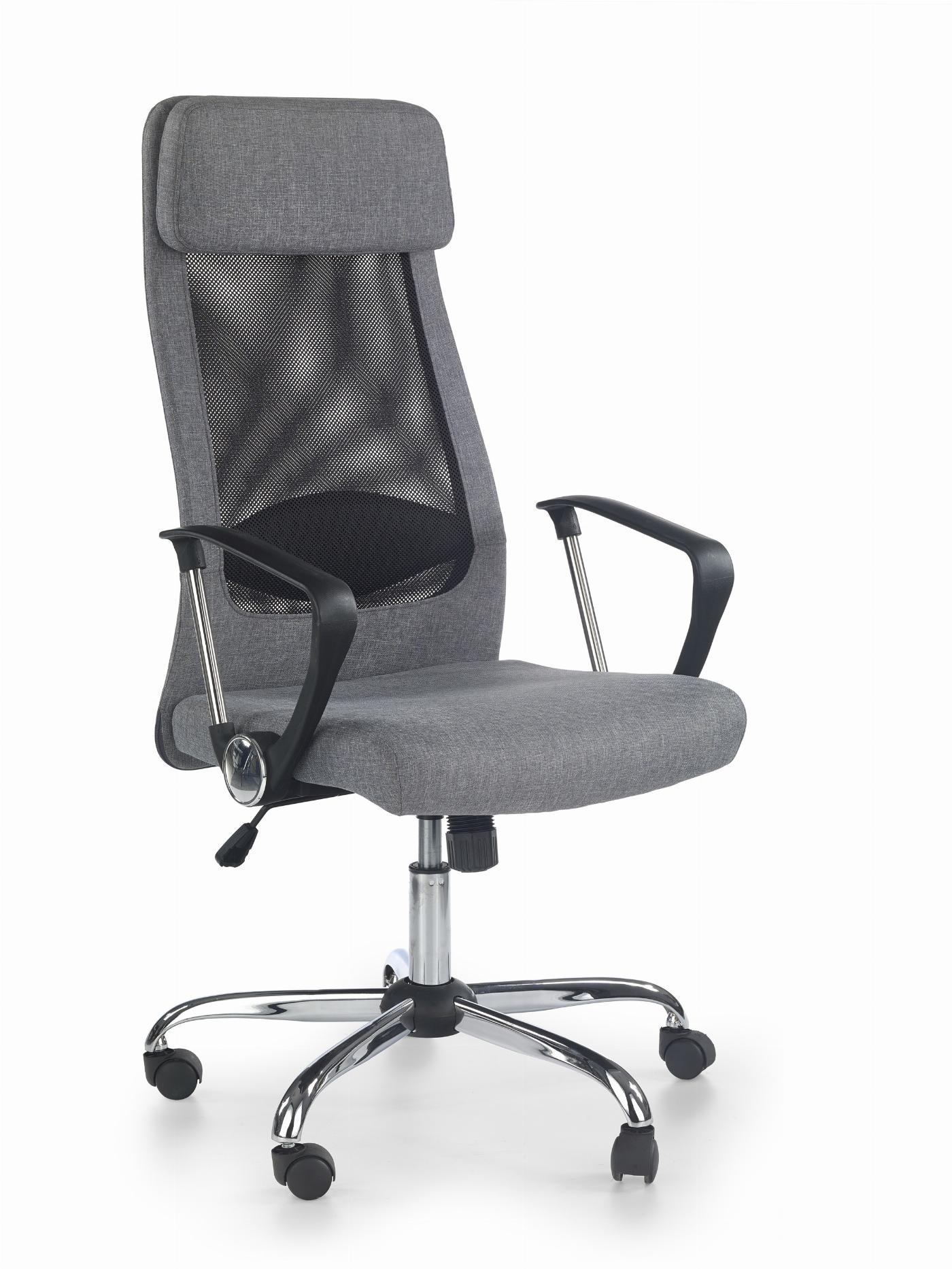 ZOOM fotel pracowniczy tkanina popielaty